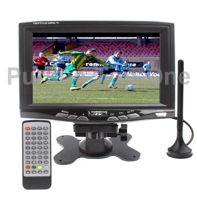 7 inch Portable DVB-T LCD TV Digital TV with DVB-T Digital Antenna Socket Support USB Flash Disk(China (Mainland))