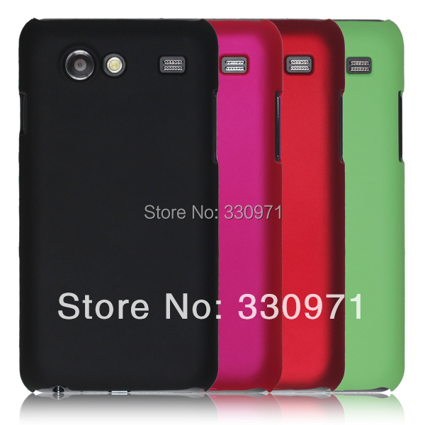 Free shipping Colorful Hard Rubber Case for Samsung Galaxy S Advance i9070 9070 ultra slim Rubber hard cover A1(China (Mainland))