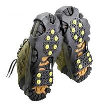 men women 10 Studs Anti-Skid Snow Ice Climbing Shoe Spikes Grips Crampons Cleats Overshoes(China (Mainland))