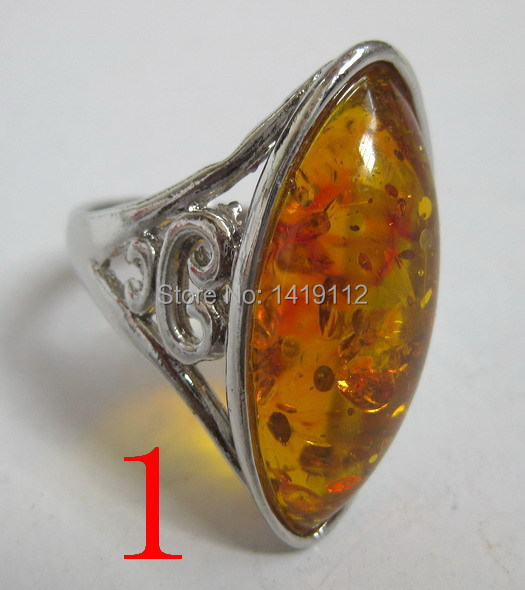 Free shipping turquoise amber ring jewelry ring wholesale(China (Mainland))