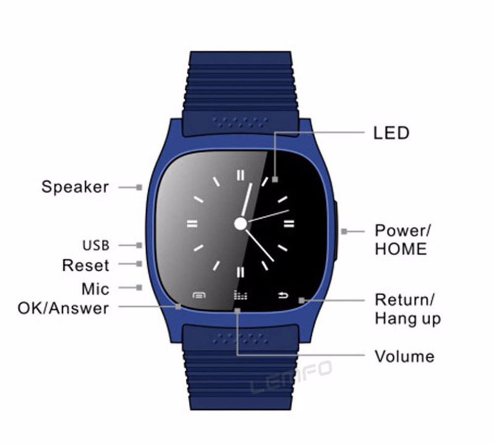 Bluetooth M26 Sport Smart Watch Wristwatch Luxury Wrist Watch with Dial SMS Remind Pedometer for Samsung Huawei Andriod Phone