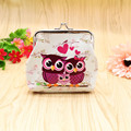 Excellent Quality Women Coin Purse Owl Printing Lady Change Purse Patent Leather Coin Wallet Female Money
