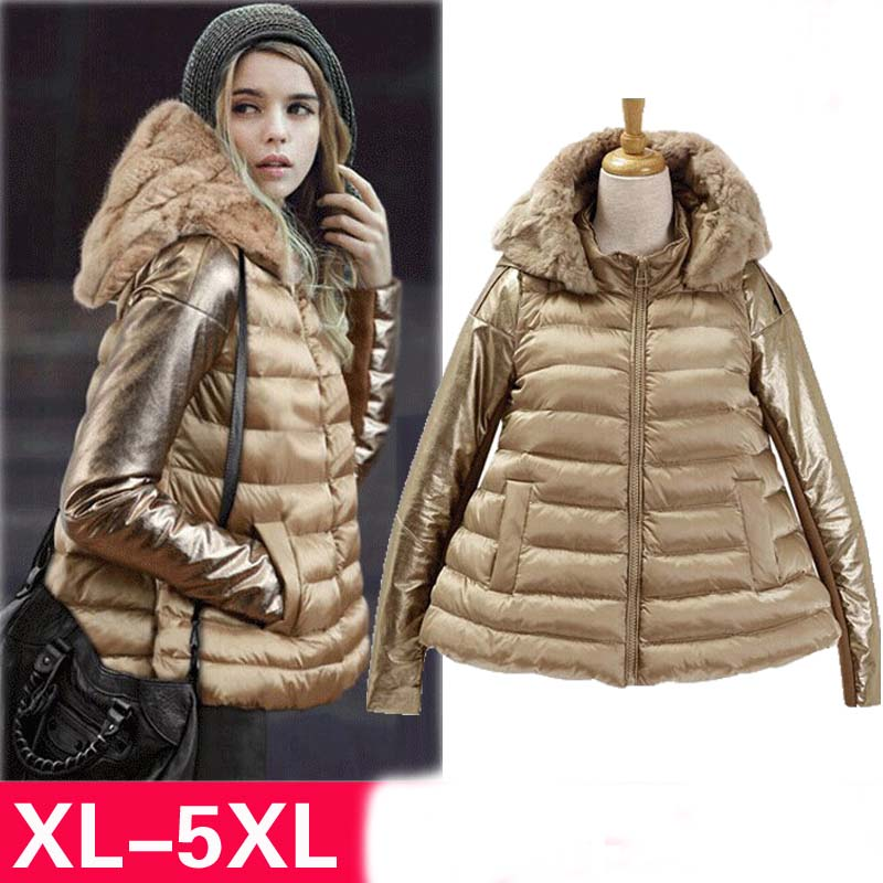 2014 European and American big size women new winter coat down padded coat was thin fertilizer to increase female overcoatОдежда и ак�е��уары<br><br><br>Aliexpress