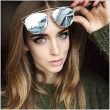 Jincool зеркальный мода солнцезащитных очков мужчин 2016 старинные очки женщин модной металла солнцезащитные очки óculos de sol feminino S674