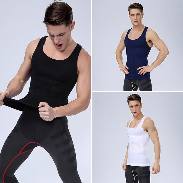 Free shipping new Undershirts mcanottiera uomo breathable stretch cotton Tank Tops vest wide back tight shirt camiseta interior