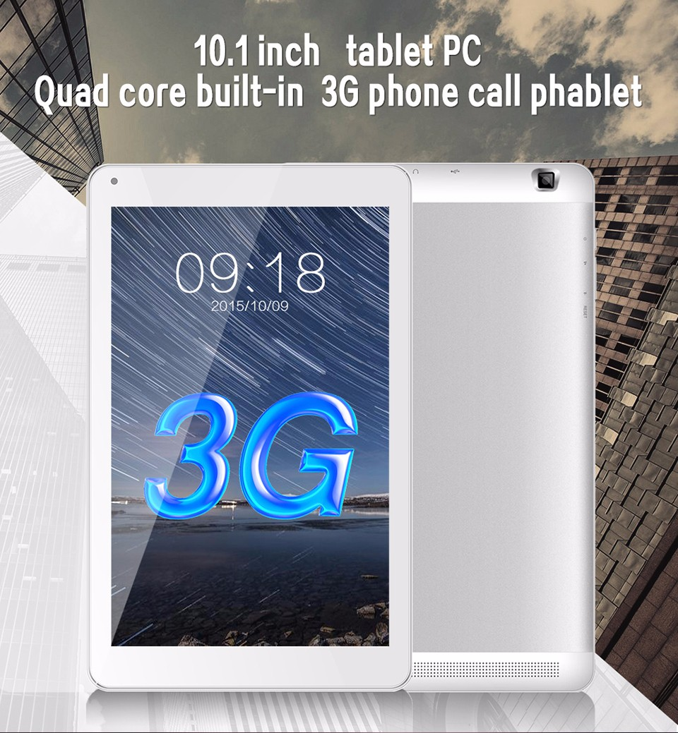 10 inch 3G Calling Tablet PC Aoson M106TG Android 5.1 Silver Tablette Dual Cameras SIM Card Slot Wifi Bluetooth (1)
