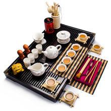 Buy Drinkware Coffee tea set Bone China KungFu Tea cup Porcelain Tea Bowl Gift Ceramic Bottle Green Black Tea Tieguanyin A007 for $56.10 in AliExpress store