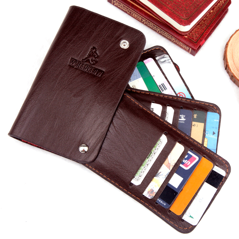 Free Shipping New Genuine Leather with PU business card case credit card bag credit card holders for men and women 180-1(China (Mainland))