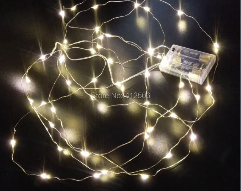 2x3M 30 LED 10ft warm white battery micro copper silver wire fairy Christmas holiday wedding invisible rice string lights(China (Mainland))