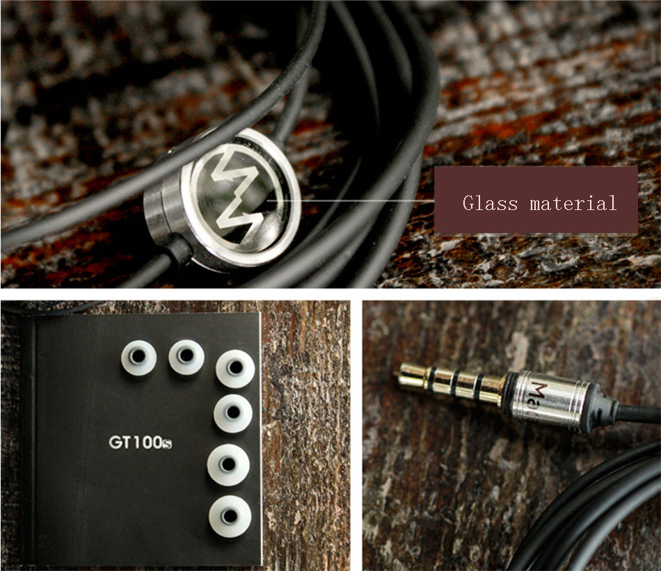 Macaw GT100s In Ear Earphone Noise Cancelling High Quality Earphone Metal Super Bass Earbuds HiFi Headset With Microphone