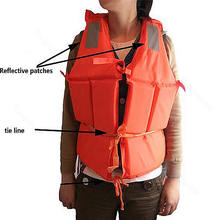 New Orange Adult Foam Flotation Swimming Life Jacket Vest With Whistle(China (Mainland))