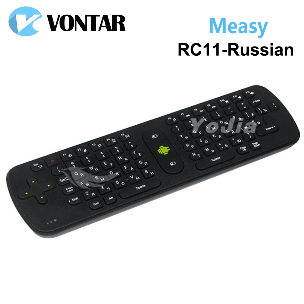 [Genuine] Measy RC11 fly Air Mouse Keyboard Russian version Gyro Handheld 2.4G Wireless Remote Control for TV BOX Tablet Mini PC(China (Mainland))