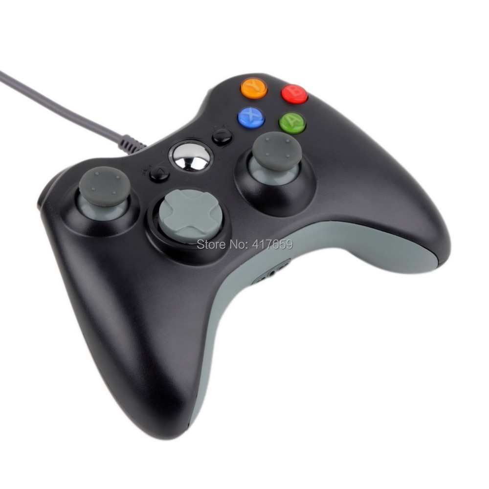 1pc USB Wired Joypad Gamepad Controller For Microsoft Xbox & Slim 360 for PC for Windows 7 Black Color Joystick Game Controller(China (Mainland))