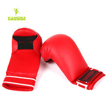 2016 wholesale Karate gloves hand protectors Child adult karate dobok suite MMA kick boxing muay thai boxing glove hands guards(China (Mainland))