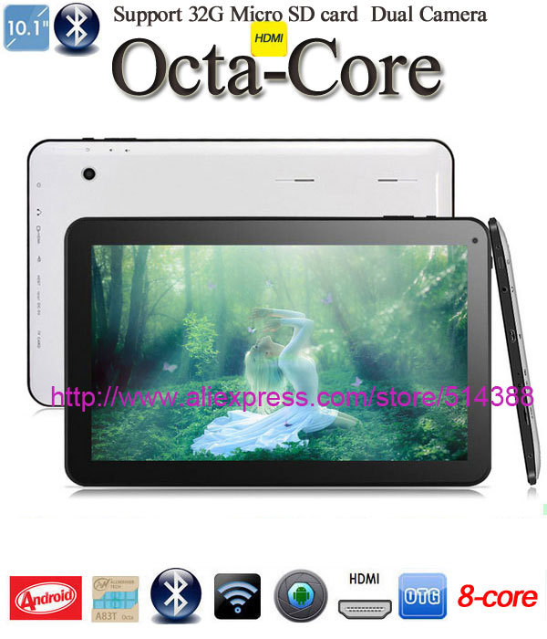 CPU: Allwinner A83T Octa Core 2.0GHz Android 4.4 Tablet PC HDMI Bluetooth 4.0 Wifi 1GB RAM 16G ROM 16pcs tablets 10 inch(China (Mainland))