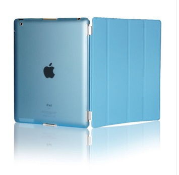 Slim Magnetic Leather Stand Wake Sleep Smart Cover Back Case For iPad 4 For iPad 2 For iPad 3(China (Mainland))