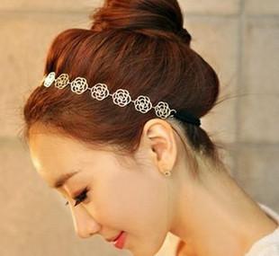 [6346]elastic band bracelet summer style hair accessories women headband clips gum weave baffle braided bow bandana ornaments(China (Mainland))