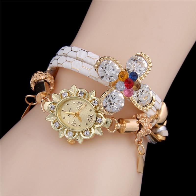 Rhinestone Lucky grass High quality Design ladies Quartz Watches.Sloggi brand Women dress watch relogio masculino digital watch(China (Mainland))