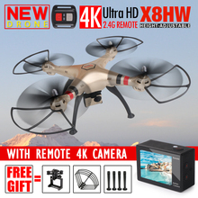 Newest Syma X8HW Hover RC Quadcopter FPV Drone with 4K 1080P Camera HD 2.4G 6Axis Dron RTF RC Helicopter VS MJX X101 Syma X8HG(China (Mainland))