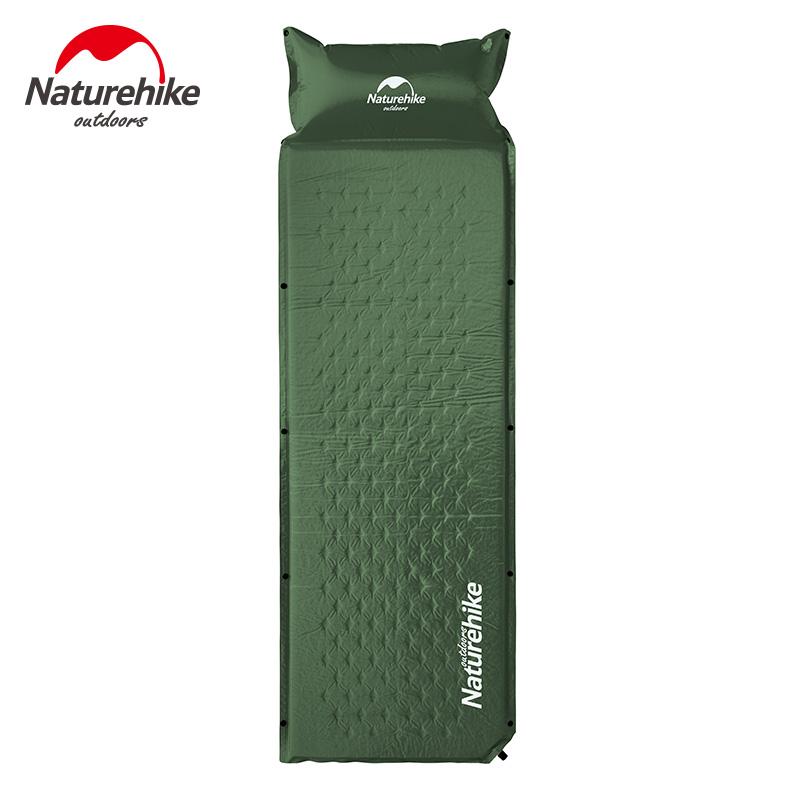 Naturehike Self Inflatable Sleeping Mat Mattress With Pillow Self-Inflating Sleeping Pad Foldable Bed Camping Tent Single Mat(China (Mainland))
