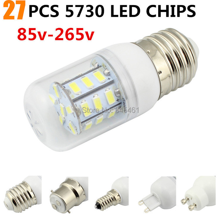 brand new and high quality 5w led bulb 27led ultra bright smd 5730 bulbs e27 gu10 e14 g9 warm