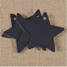 100Pcs Black Star Kraft Paper Label Price Tags Wedding Christmas Halloween Party Favor Gift Card Luggage Tags(China (Mainland))