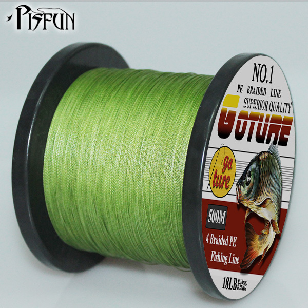 Goture 500M Super Strong Japan Multifilament PE Braided Fishing Line 8 10 20 30 40 60LB(China (Mainland))