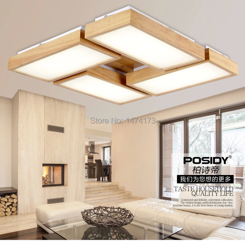 Newest home wood living room ceiling lights led new concept design bedroom indoor decoration - Woodwork design for living room ...