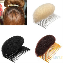 Hair Styler Volume Bouffant Beehive Shaper Roller Bumpits Bump Foam On Clear Comb Xmas Accessories 0556