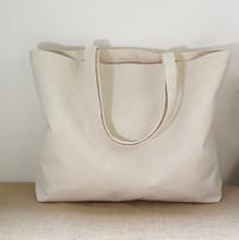 2015 Large reusable grocery tote bag big foldable shopping bag canvas cotton ecobag(China (Mainland))