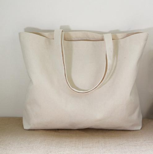 2016 Large reusable grocery tote bag big foldable shopping bag canvas cotton ecobag more than 100 Can Custom(China (Mainland))
