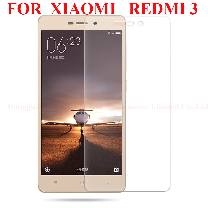 5.0″Original for Xiaomi Redmi 3 Tempered Glass 0.3MM redmi 3 glass 9H Surface Hardness Explosion-proof Screen ProtectorFilm