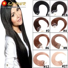 "Grade 7A Brazilian Micro Ring Loop Human Hair Extension 50g Eli Queen Hair Product 18""-24"" Silky Straight Cheap Remy Loop Hair(China (Mainland))"