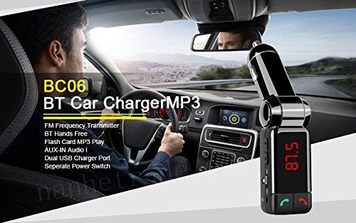 LCD Bluetooth Car Kit MP3 FM Transmitter SD USB Charger Handsfree Bluetooth car Charger For iPhone For Samsung(China (Mainland))