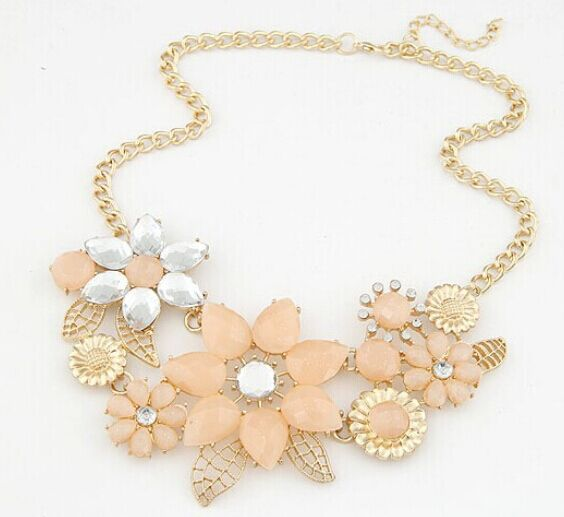 Kpop bauhinia exaggerated necklace new 2015 luxury designer brand wedding accessories wholesale/collier femme/neckless/colar(China (Mainland))