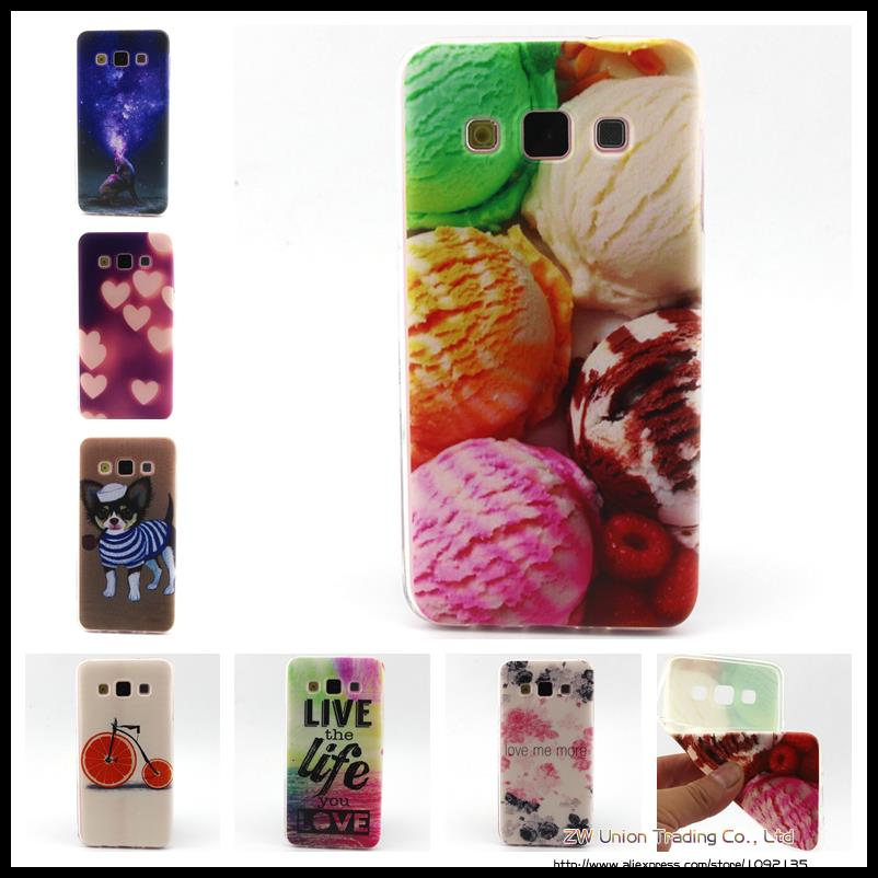 TPU Protective Painted Skin Cases Draw picture Silicone Soft Back Cover for samsung galaxy A5 2015(China (Mainland))