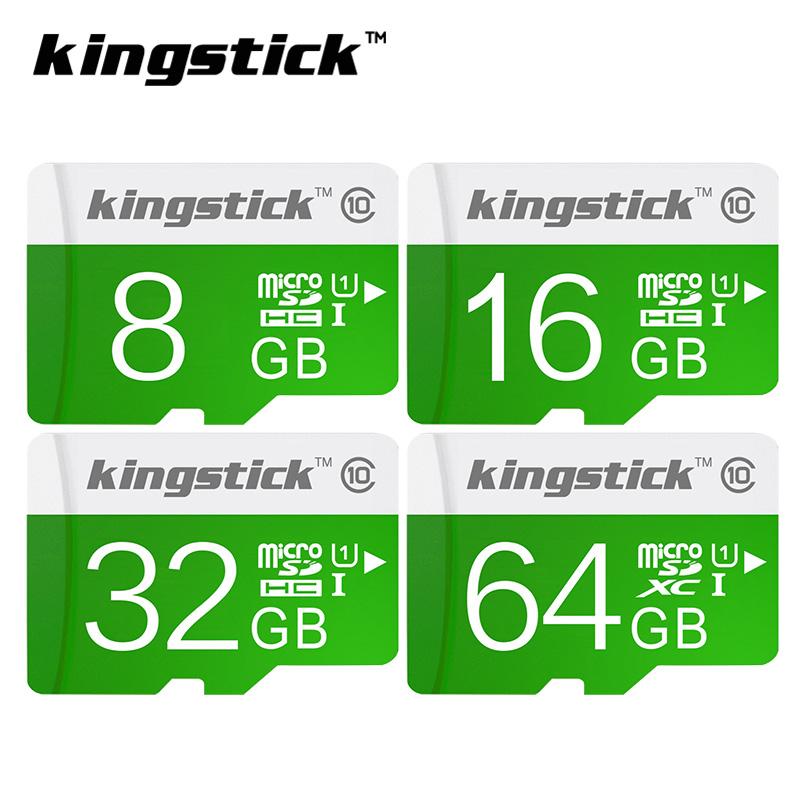 Kingstick green micro sd card class10 64GB 32GB 16GB 8GB 4GB SDHC SDXC Memory card Transflash TF card for Smartphone free ship(China (Mainland))