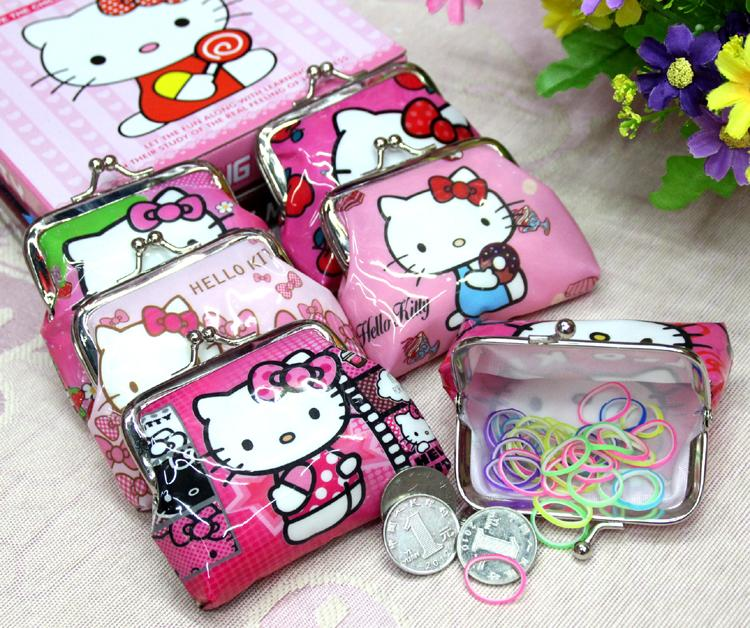 6Pcs/lot Cute Princess Elsa Anna Hello kitty Mini Coin Pouch Purses Small Wallet For Baby Children Money Bag Party Supplies Gift<br><br>Aliexpress