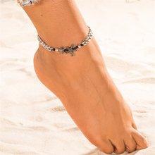 KISSWIFE ヴィンテージシェル女性の新しい多層アンクレット脚ブレスレットボヘミアンビーチ足首チェーンジュエリーギフト(China)