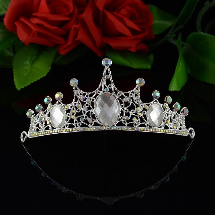 Wedding Bridal Full Rhinestone Crown,Bride Luxury Crystal Princess Sweet Tiara,Fashion Korean Hair Accessories Hair Jewelry Free(China (Mainland))