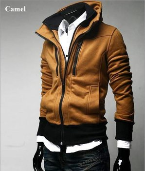 Free Shipping+2014 Hoodies + NEW Hot High Collar Men's Jackets ,Men's Sweatshirt,Dust Coat , skirt,cotton, wholesale
