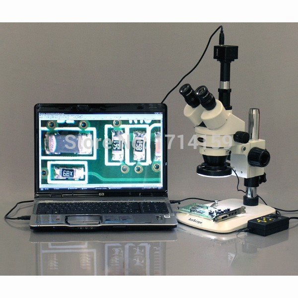 Industrial Inspection-AmScope Supplies 3.5X-90X Zoom Stereo Microscope w 10MP Camera + 144-LED 4-Zone Light(China (Mainland))