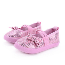 Bow Single Shoes Girl Flat Girls Cute Dot Shoes Comfortable 2015 New Baby Sport Shoes Shining Fashion Bow Single Shoes Girl(China (Mainland))