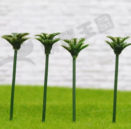Freeshipping Building sand table model of production material background model tree Mini coconut tree--3cm(China (Mainland))