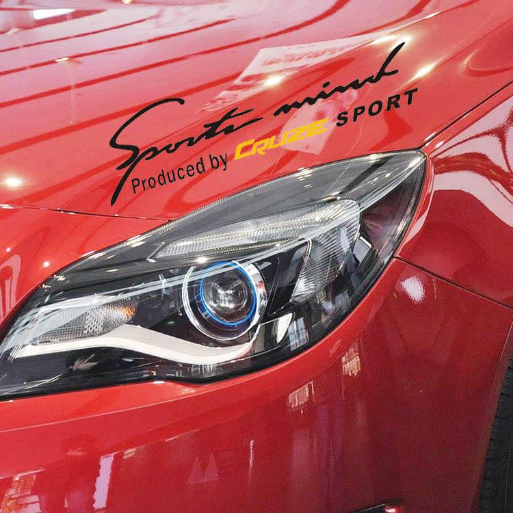"Cruze special 35 * 14cm ""light eyebrows stickers"" Automobiles Vw Golf 7 Mazda Cx 5(China (Mainland))"