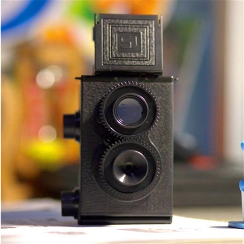 Professional DIY Black Classic Play Hobby Twin Lens Reflex TLR 35mm Holga for Lomo Camera Kit Outdoor Photograph Travel(China (Mainland))