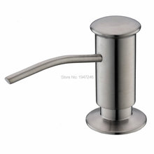 100% Solid Stainless Steel Modern Style Brushed Nickel Kitchen Sink Soap Dispenser ABS Pump & PE 13 Oz Bottle - Faucetdirect store