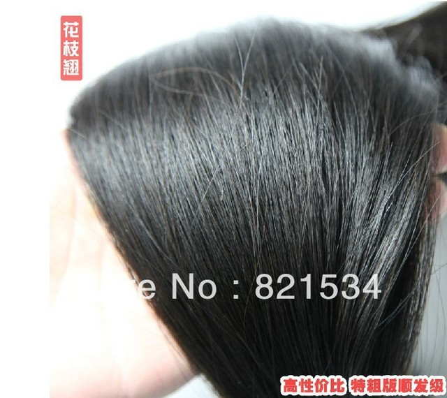 Free Shipping 100% real Remy Hair Bulk Hair Good Quality Elastin Element Hair Extensions Chinese Hair 1g one piece