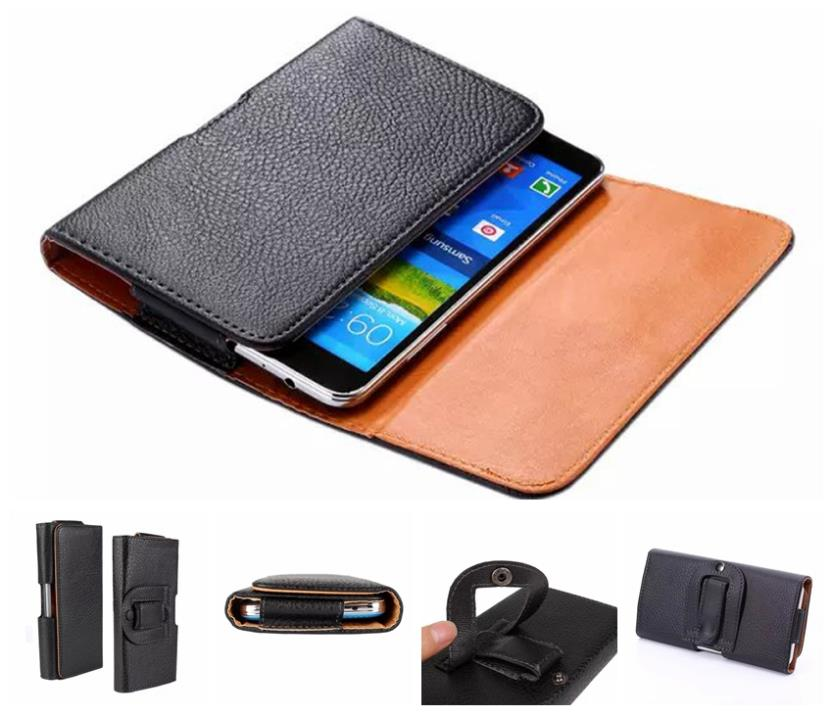 Fashion Men's Outdooor Clip Holster Cowskin Leather Flip Wallet Belt Buckle Sport Case Cover Pouch For Multi Phone Model GA002(China (Mainland))