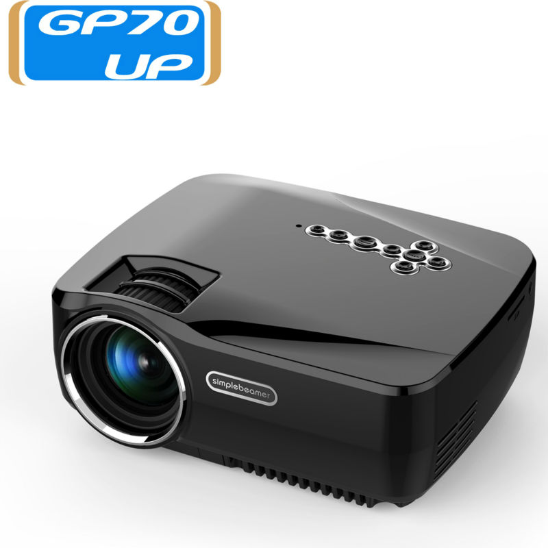 Free dhl 1pcs gp70up android4 4 8g 1g wireless portable mini projector 1080p ready bluetooth for Small bluetooth projector